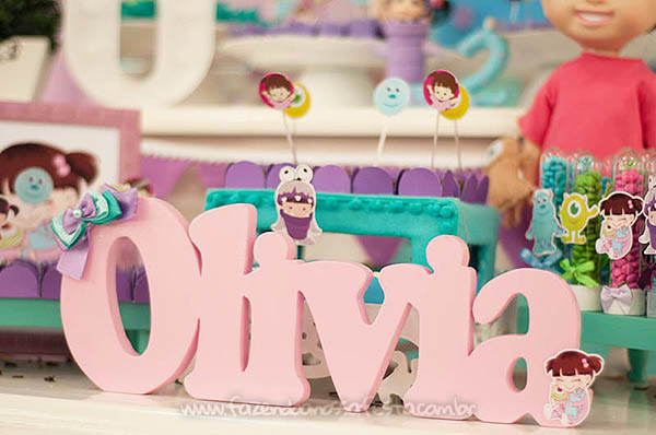 Festa Infantil Monstros SA da Olivia 13
