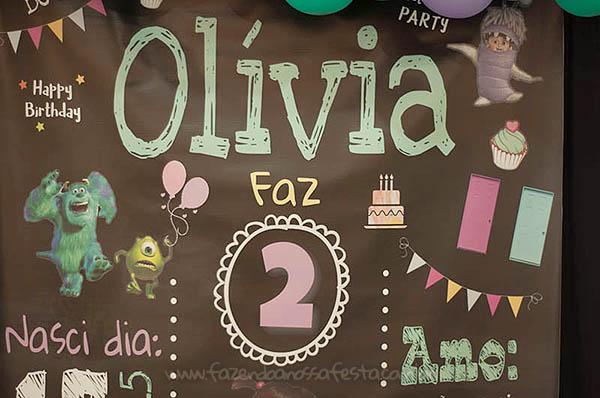 Festa Infantil Monstros SA da Olivia 19