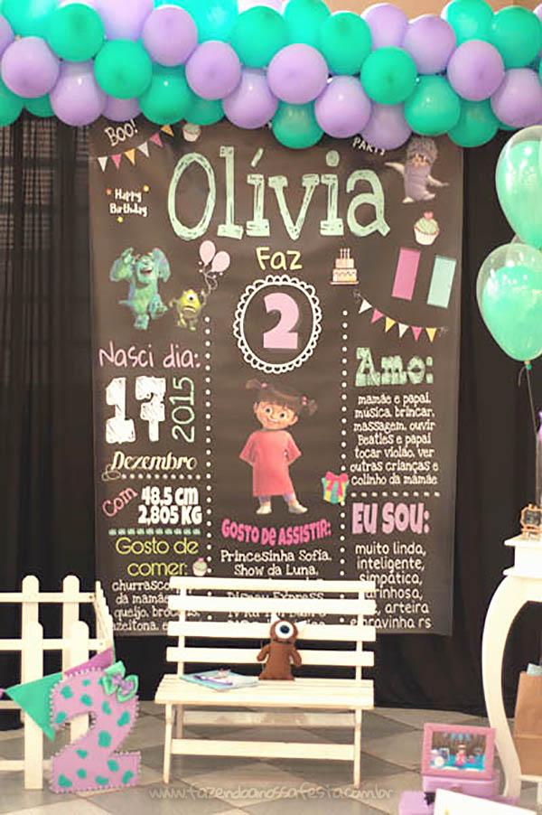 Festa Infantil Monstros SA da Olivia 26