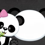Invitation Pink Panda 2