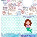 Molde Passaporte Sereia Cute Kit Festa