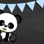 Printable Panda Azul