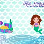 Revista Colorindo Kit Festa Sereia Cute