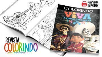 Revista para Colorir Viva a vida e uma festa