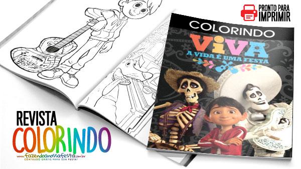 Livrinho Para Colorir Viva A Vida E Uma Festa Gratis Para Imprimir