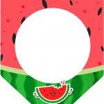 Bandeirinha Varalzinho 3 Melancia Personalizados para Imprimir