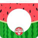 Bandeirinha Varalzinho Quadrada Melancia Personalizados para Imprimir