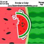 Bisnaga Brigadeiro 15gr Melancia Personalizados para Imprimir