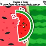 Bisnaga Brigadeiro 30gr Melancia Personalizados para Imprimir