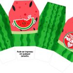 Caixa China in Box Melancia Personalizados para Imprimir