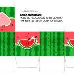 Caixa Cubo ou Bis Melancia Personalizados para Imprimir