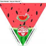 Caixa Piramide Melancia Personalizados para Imprimir