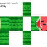 Caixa Tubete Melancia Personalizados para Imprimir