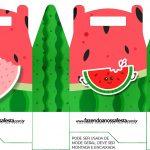 Caixa bombom Melancia Personalizados para Imprimir