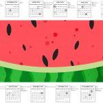 Calendario 2017 Kit Festa Melancia