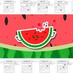 Calendario 2017 Personalizados Melancia