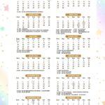 Calendario 2022 Unicornio Dourado