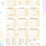Calendario Professor Unicornio Dourado 2021