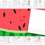Calendario com Foto Melancia Kit Festa