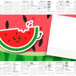 Calendario com Foto Personalizados Melancia