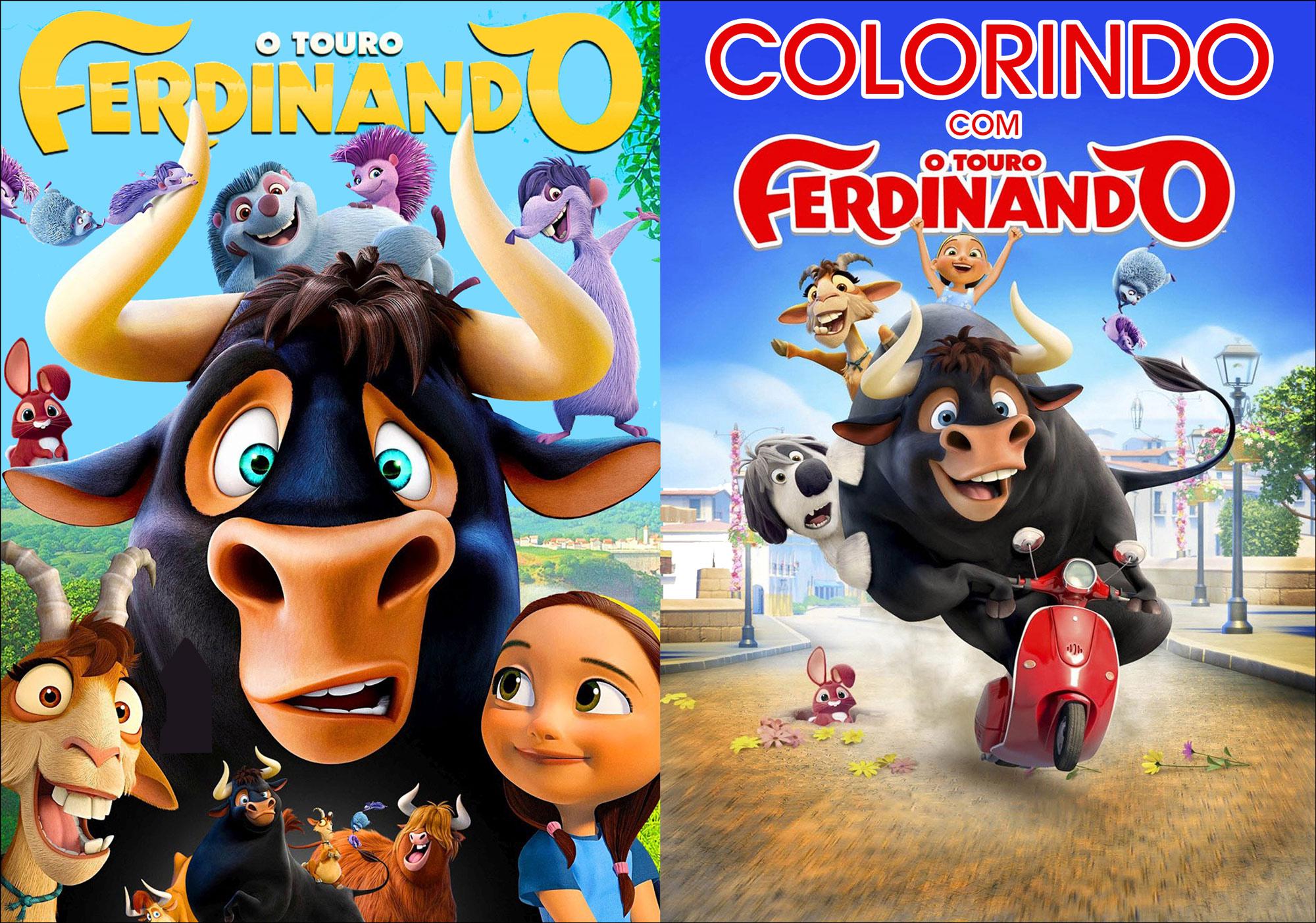 Capa Livrinho para Colorir O Touro Ferdinando 0