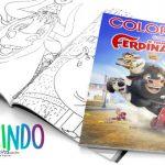Livrinho para Colorir O Touro Ferdinando Grátis para Imprimir