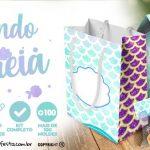 Fundo Sereia Kit Festa Grátis para Baixar e Imprimir em casa