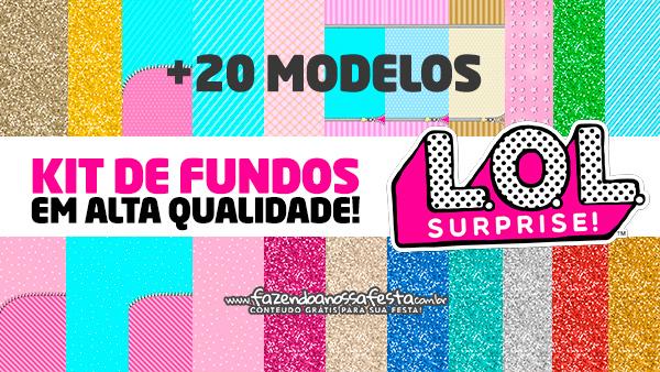 Kit Digital Lol Surprise Papeis digitais gratuitos