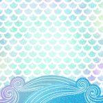 Kit Digital Sereia Escamas Fundo do mar