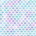 Papel Digital Sereia Escamas Roxo e Azul