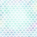Papel Digital Sereia Escamas Azul e Roxo