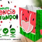 Kit Festa Melancia para Imprimir em casa Fundo Limpo Grátis