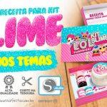 Kit Slime – Caixa e Receita grátis pronto para imprimir em casa
