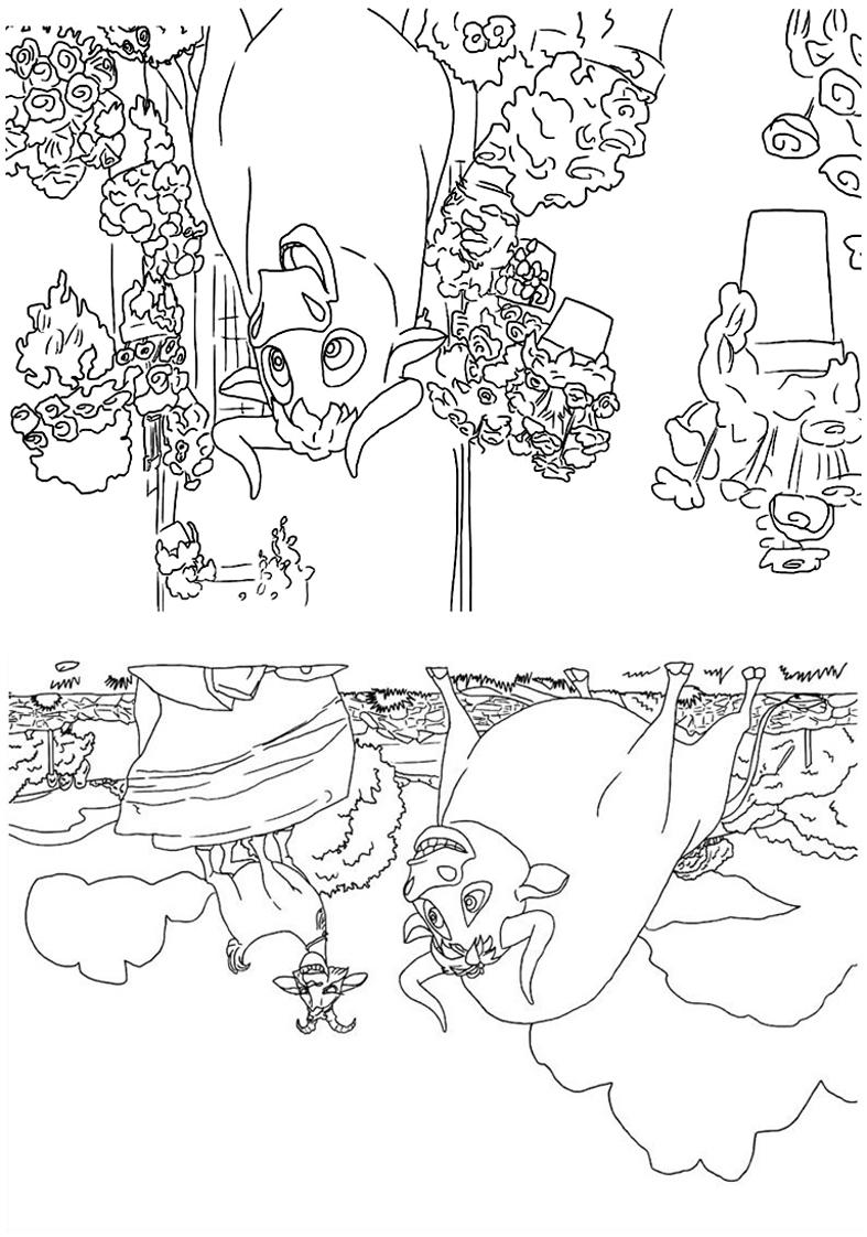 Livrinho de colorir O Touro Ferdinando 8