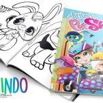 Livrinho para colorir Littlest Pet Shop gratis