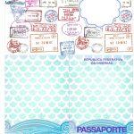 Molde Passaporte Fundo Sereia