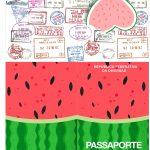 Molde Passaporte Melancia Kit Festa
