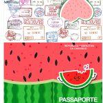 Molde Passaporte Melancia Personalizados para Imprimir