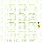 Planner 2020 Cactos calendario