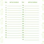 Planner Cactos 2019 metas fevereiro