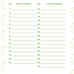 Planner Cactos 2019 metas setembro