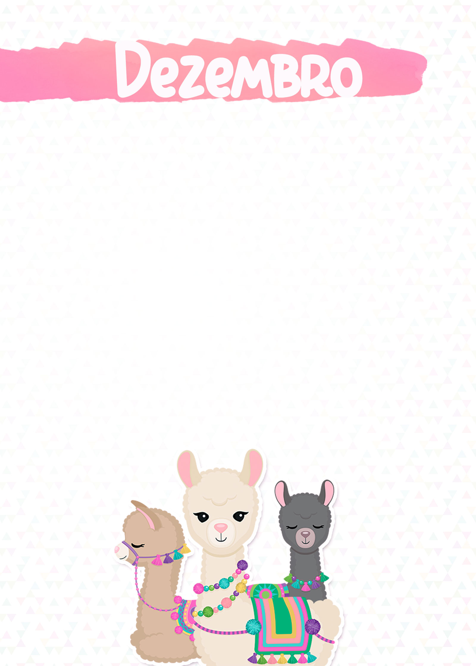 Planner Lhama Rosa 2019 capa dezembro