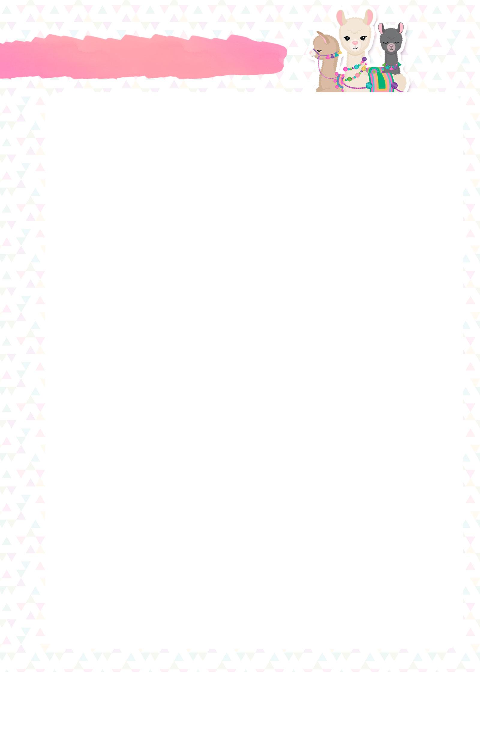 Planner Lhama Rosa 2020 pagina livre