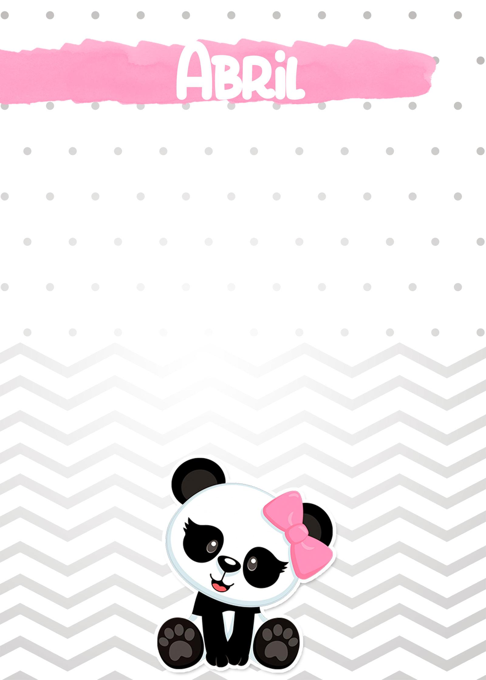 Planner Panda Rosa 2019 capa abril