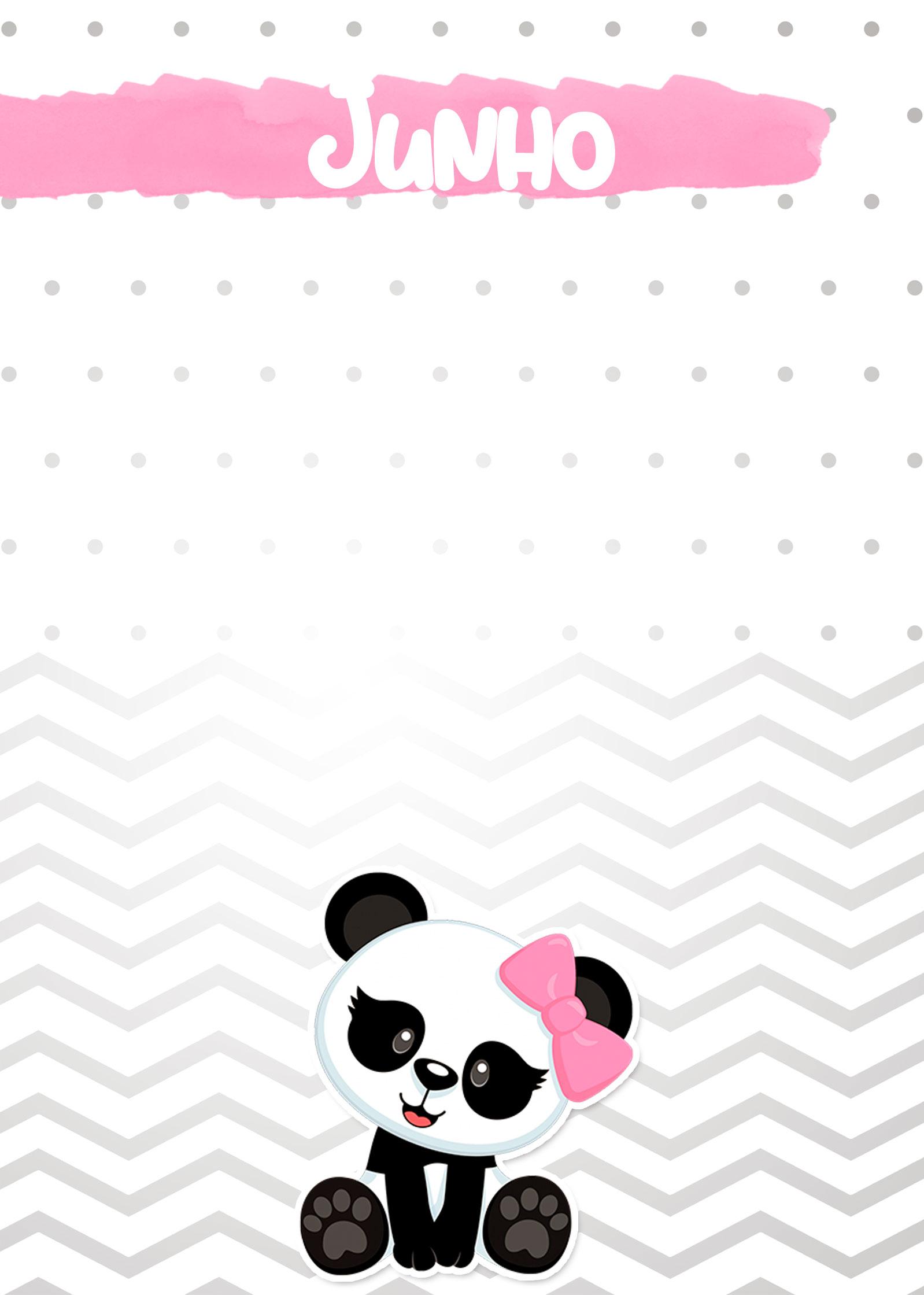 Planner Panda Rosa 2019 capa junho