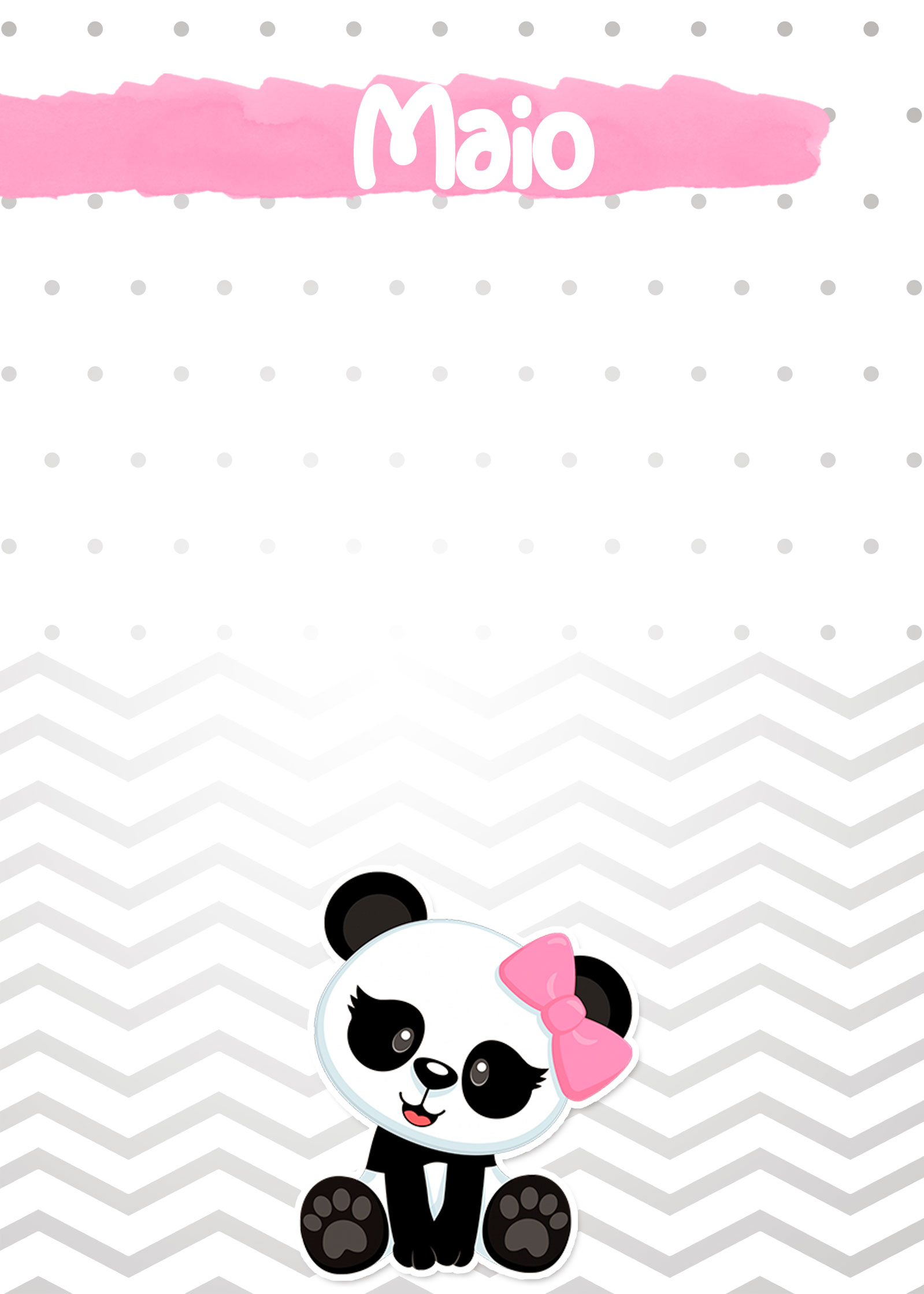 Planner Panda Rosa 2019 capa maio