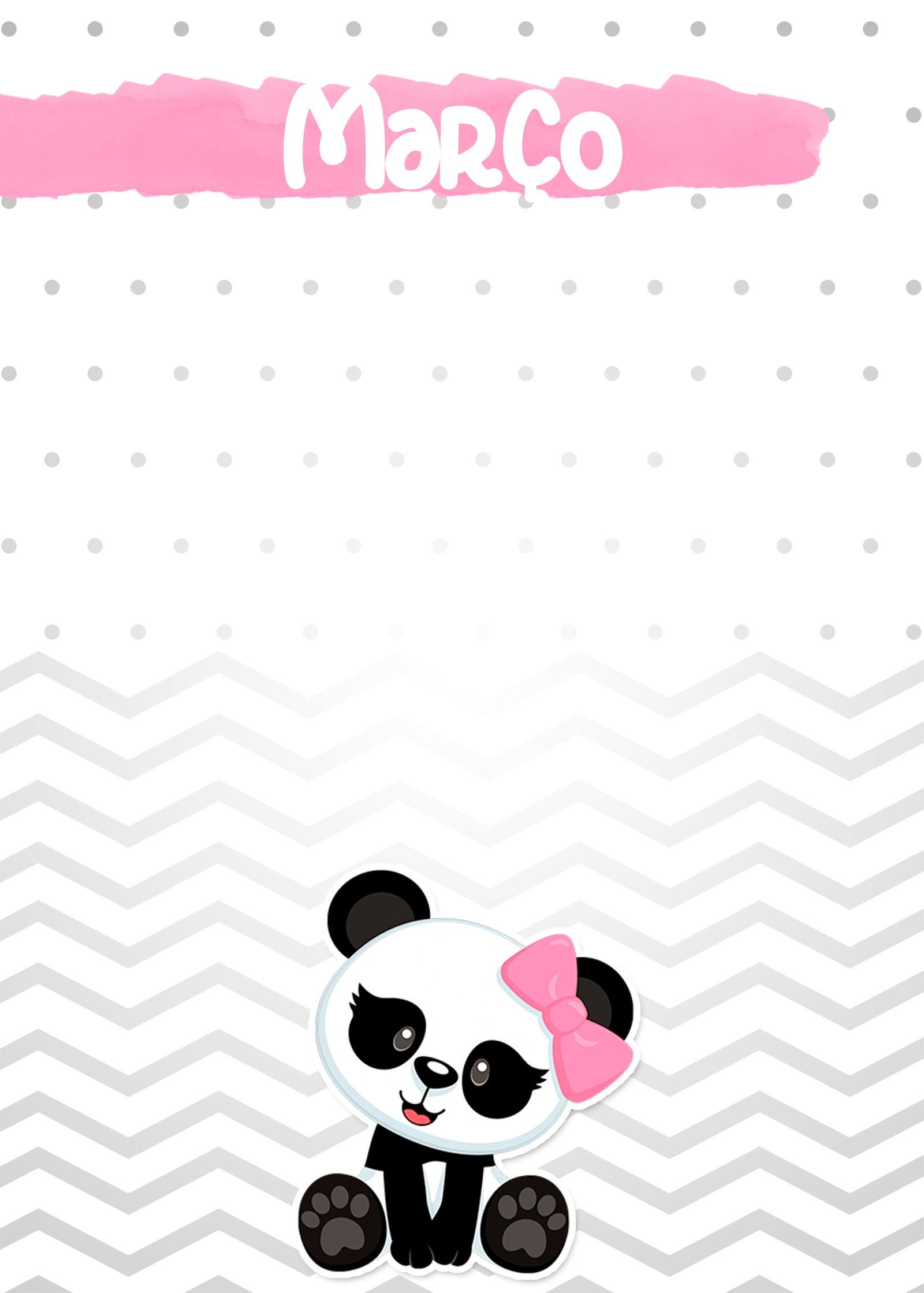 Planner Panda Rosa 2019 capa marco