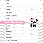 Planner Panda Rosa 2019 dados pessoais