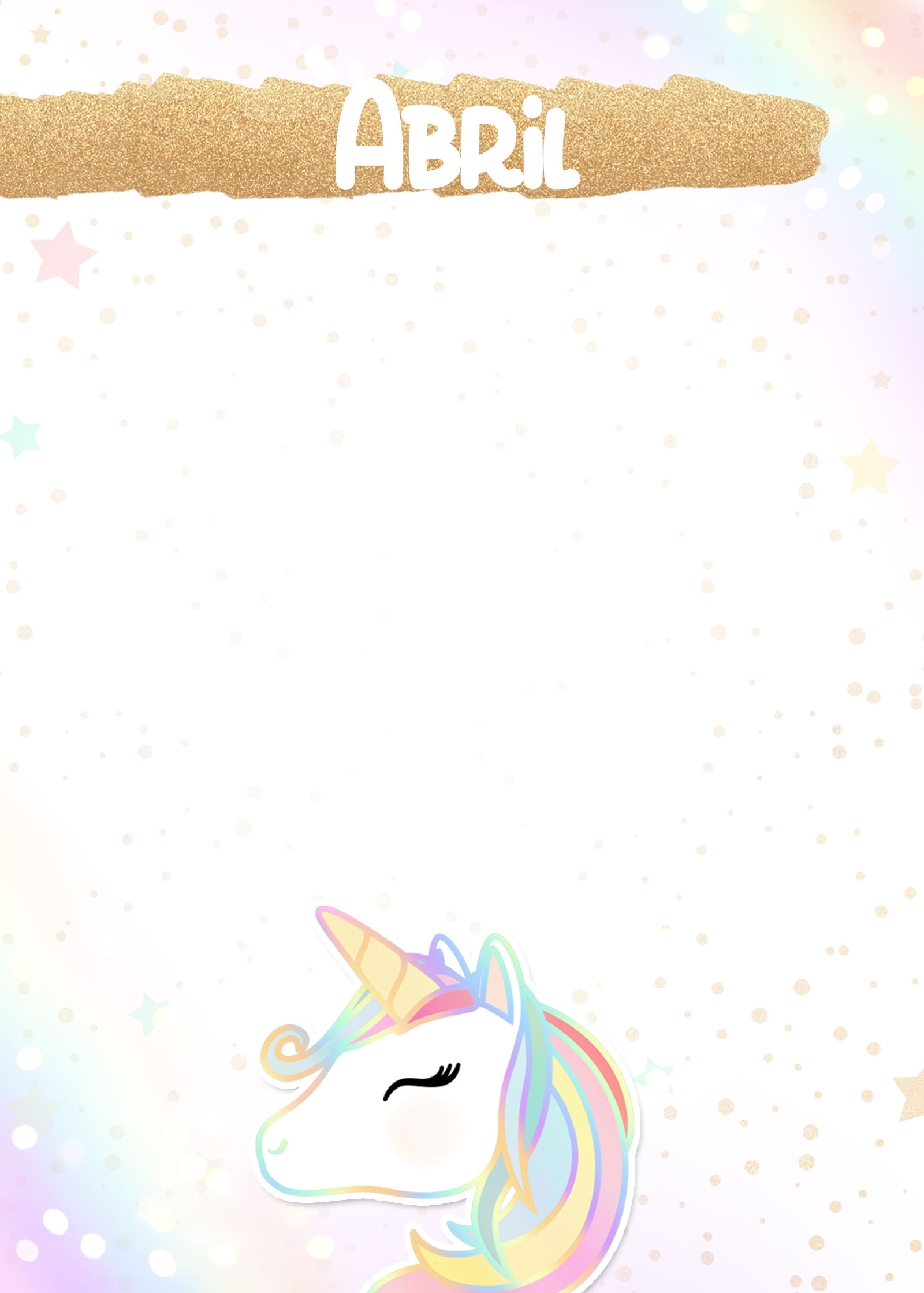 Planner Unicornio 2019 capa abril