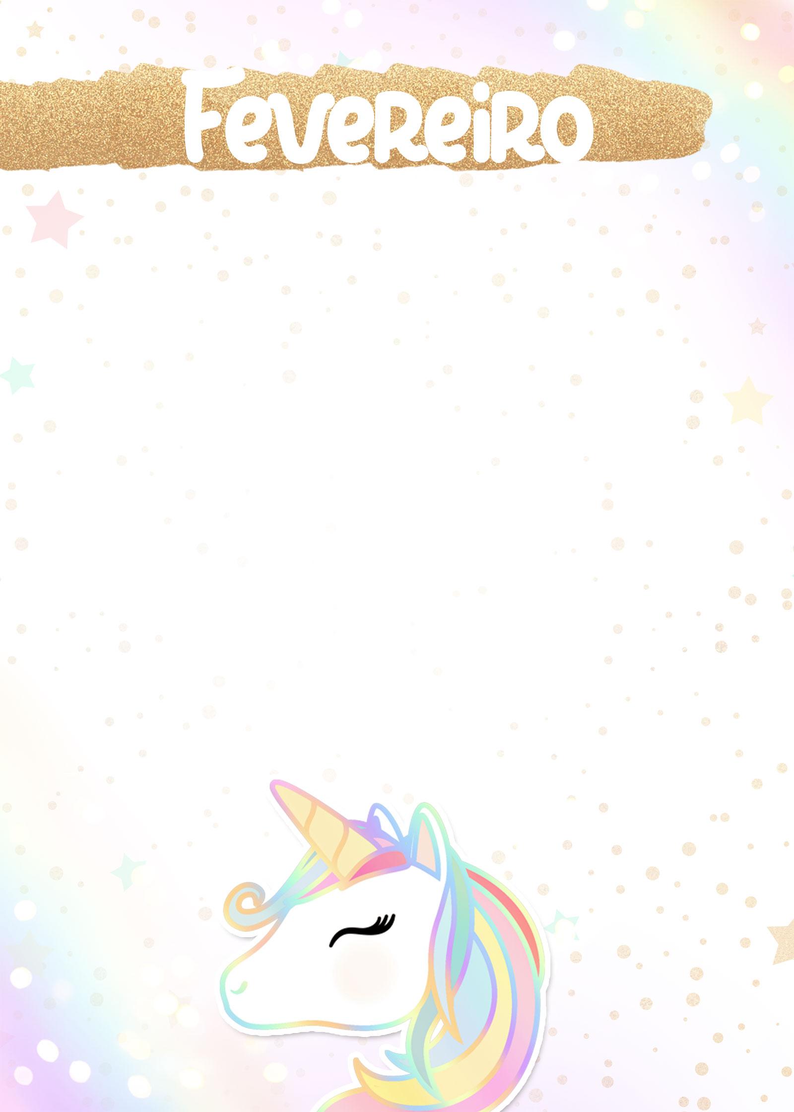 Planner Unicornio 2019 capa fevereiro